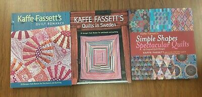 Lot of 3, Kaffee Fassett, Quilt Romance, Quilts in Sweden, Simple Shapes