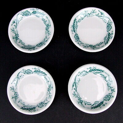 Vintage Mayer China Marilyn Patented Green Floral Butter Pats Set of 4