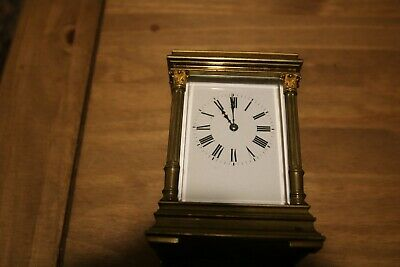 Antique French striking carriage clock (not working) for repairs.