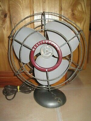 Vintage WESTINGHOUSE Tabletop Electric FAN 3-Blade OSCILLATING Works Great!