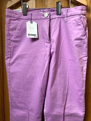 Girls Next Cropped Lilac Trousers Age 12