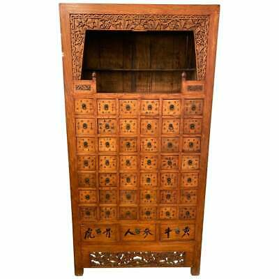 19th Century Apothecary Cabinet Having 45 Drawers, Large and Impressive 101-4842