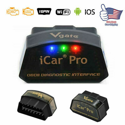 Vgate iCar WiFi OBD2 Adapter Diagnostic Tool Auto Scanner Interface Android iOS