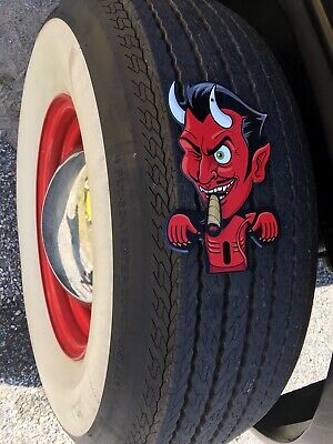 "RED DEVIL Satan Lucifer Printed LG 11X16/"" Vinyl Sticker Evil Vinal Decal Grafix"