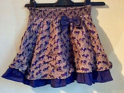 Monsoon Girls Pretty Horse Skirt Age 5-6 Years Christmas Outfit Bow Reindeer top