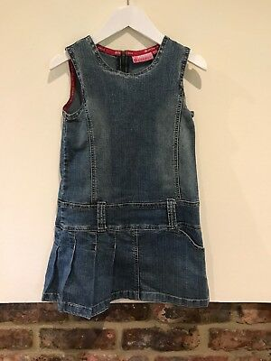 Fransa Lovely Girls Blue Demin Dress Age 6-7 Years Good Condition