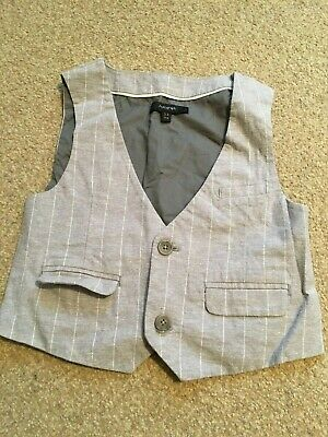 M&S Autograph Boys kids junior grey formal wedding waistcoat Age 3-4 yrs