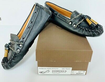 Patricia Nash Domenica Black Shoes Polish Moccasins  BNIB - Z4