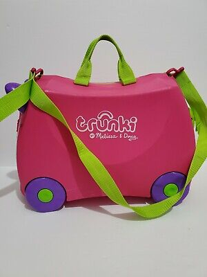 Melissa & Doug Trunki Original Kids Ride-On Suitcase and Carry-On Luggage Pink