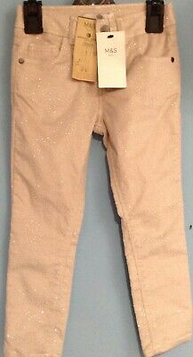 BNWT GIRLS SPARKLY Velvety Jeans TROUSERS Age 5-6 Yrs Christmas Party