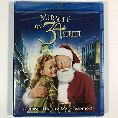 Miracle on 34th Street Blu-ray Classic Christmas Movie Holiday Family Film NEW!
