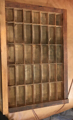 PRINTERS Wood TYPE CASE Or DRAWER End Section Typecase