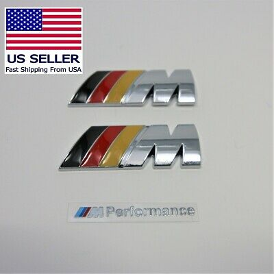 2 x M Badge Metal Emblem Logo M-Power fits BMW M2 M3 M4 M5 M6