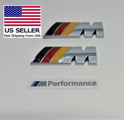 2 x M Badge Metal Emblem Logo, small, M-Power fits BMW M2 M3 M4 M5 M6