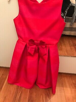 Jasper Conran Red And Pink Striped Girls Dress Age 11