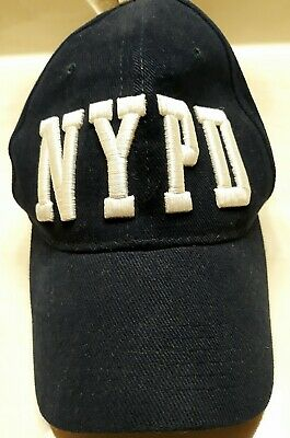 NYPD BASEBALL HAT BALL CAP NAVY GOLD NEW YORK POLICE DEPARTMENT COPS MENS