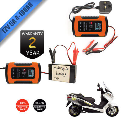 Smart Car Battery Charger 12V LCD Intelligent Automobile Motorcycle Winter Mode