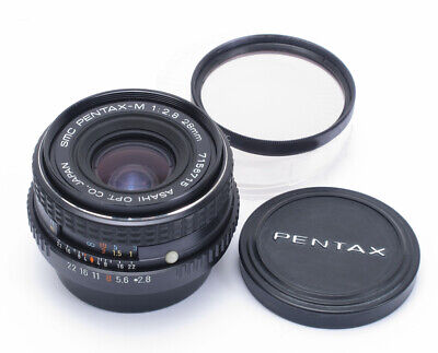 Genuine Pentax 28mm 2.8 P/K-Mount Manual Focus MF Prime Wide Angle Lens + Filter