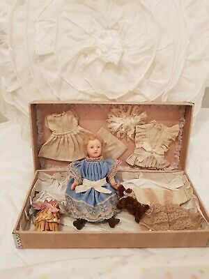 Vintage french Bisque  A La Samaritaine paris doll  Clothing & presentation box