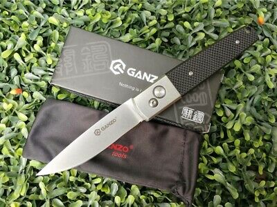 Ganzo Folding Knife Model G7212 BK Black Sports outdoor Camp hiking tools G-10