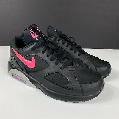 Details about Nike Air Max 180 Black Pink Blast wolf grey AQ9974 001 Sz 10 US 100% Authentic