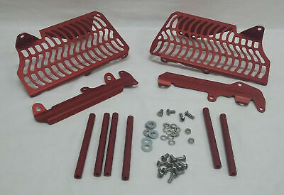 Unabiker Aluminum Front & Side Radiator Guards - Red HF250R4-R