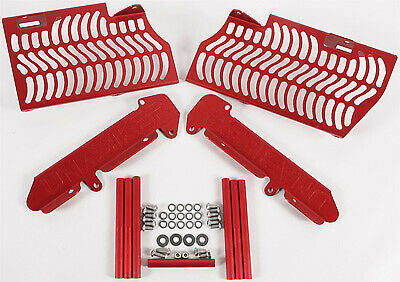 Unabiker Aluminum Front & Side Radiator Guards - Red HF250R6-R