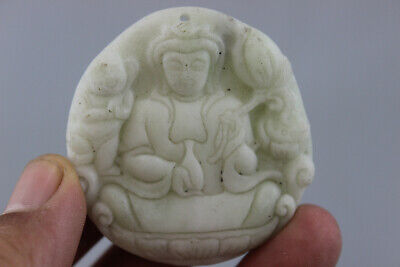 Antique Chinese natural old jade Buddha pendant collection