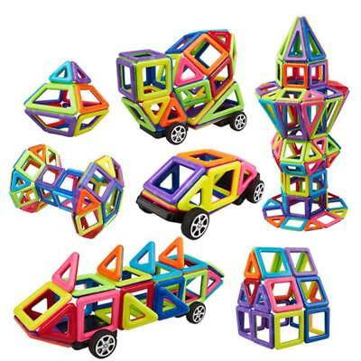 Lot of 76 3D Educational Magnetic Blocks Building Kid Toy Magformer Construction