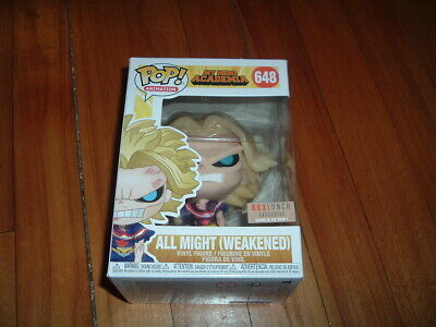 Funko Pop! All Might (Weakened) #648~ Box Lunch Exclusive~ Near Mint~ My Hero~