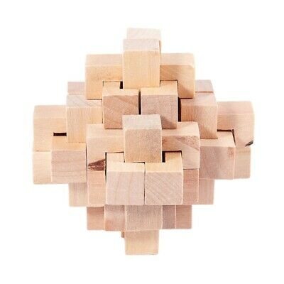 Fashion Adult Puzzle Toy SnakeCube Wooden Brain Teaser Take Out the RedBall rtuk