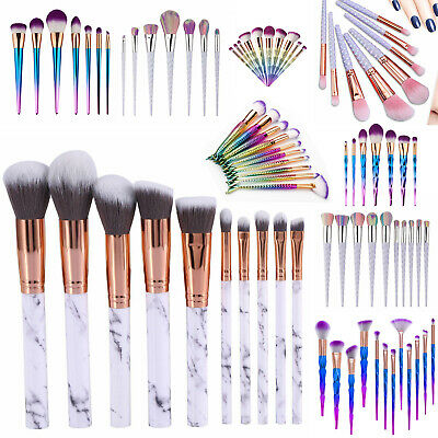 7-12 pcs Kabuki Make up Brushes Set Eye shadow Blusher Face Powder Foundation