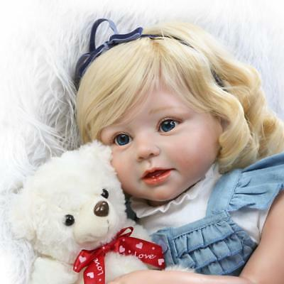 "27.5"" Cute Toddler Doll Reborn Baby Doll Kids Gift Toy Props Silicone Baby Doll"