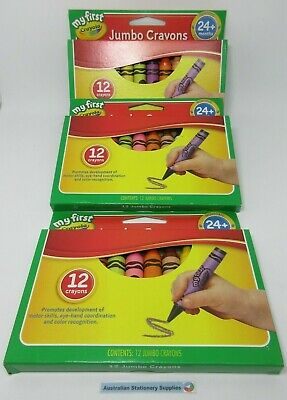 Crayola My First Jumbo Crayon 12 pack of assorted colours in stock (G)