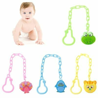 Baby Girl Boy Dummy Pacifier Soother Nipple Clip Toy Animal Holder Lizzj