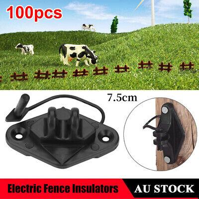 100pcs - Wood Post Pinlock Electric Fence Insulators Electric Fence Accessories