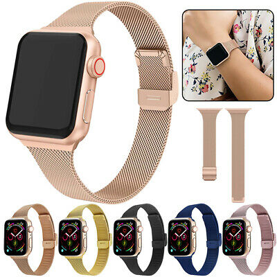 Milanese Stainless Steel Watch Band Strap Bracelet For Apple iWatch Series 5 4 3