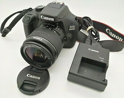 CANON EOS 4000D 18Mpx Digital SLR Camera Kit with 18-55mm EFS III lens & Charger
