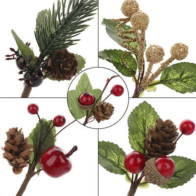 5x Real Natural Small Pine Cones In Bulk Fit Christmas Xmas Tree Topper Ornament