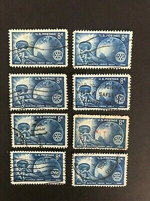 Scott 1066-Rotary International, Service Above Self- 8c 1955- Used x 8