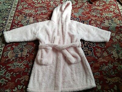 girls cosy pink Next dressing gown age 4-5yrs **good condition**
