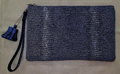 (Custom Hand Made in Korea)Italy Metallic Shimmery Leather Wallet Clutch -Only 1