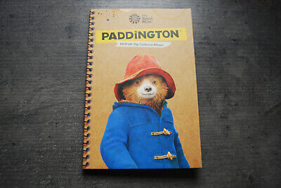 2019 Set Of Two Paddington Bear Coins In The New Album Uncirculated.
