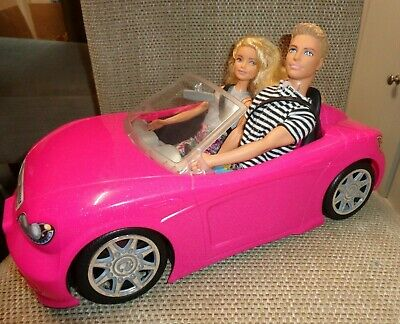 🎅🎅BARBIE rare Pink Convertible sports  Car with Ken & Barbie🎄🎅