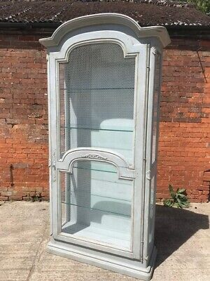Stunning Painted Continental Armoire Wardrobe in Annie Sloan 'Paris Grey'