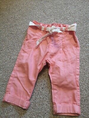 Baby Girl Pink Chino Trousers Mothercare Size 3 To 6 Months