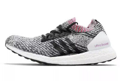 Adidas UltraBoost X White Black Pink Breast Cancer SZ WMNS Running Shoes BB6524