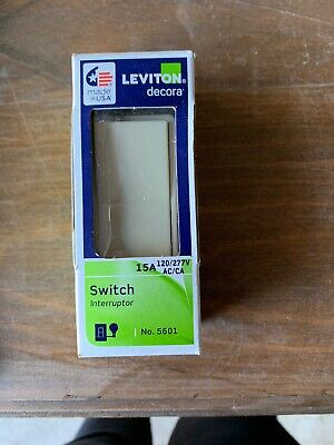 1- Leviton Decora  15 amps 120/277 volts Single Pole  Rocker  Switches Ivory
