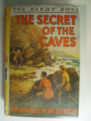 Hardy Boys #7, The Secret of the Caves, DJ, Early Edition, 1940s