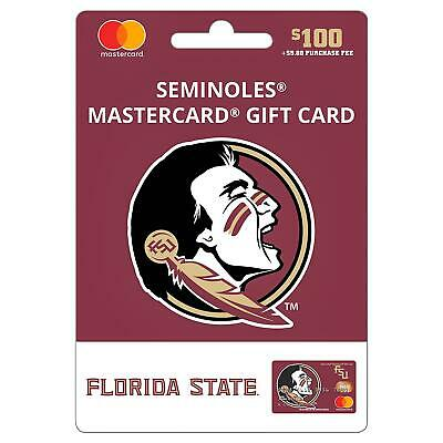 $100 Florida State Gift Card. Activated. No Additional Fees. Free Shipping!!